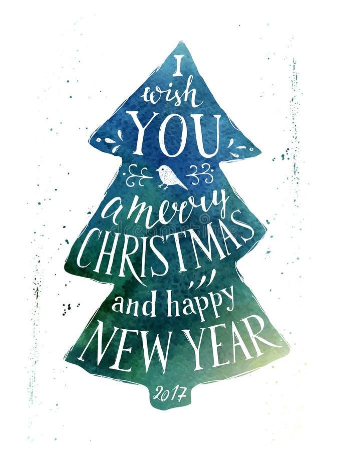 Julkort med hand dragen bokstäver vektor illustrationer
