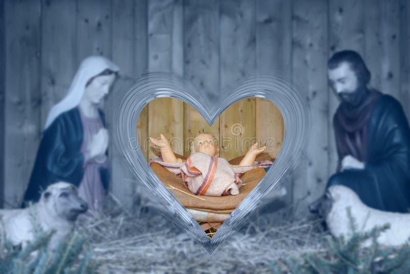 julkrubba arkivbild