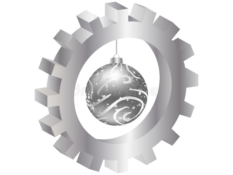 julkugghjuljordklot inom royaltyfri illustrationer