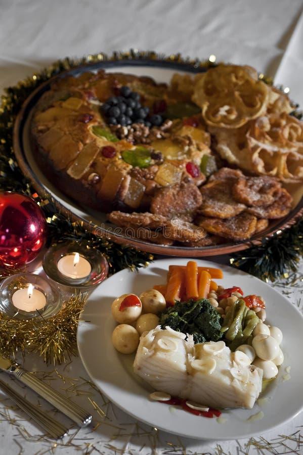 Julkvällsmål royaltyfria foton