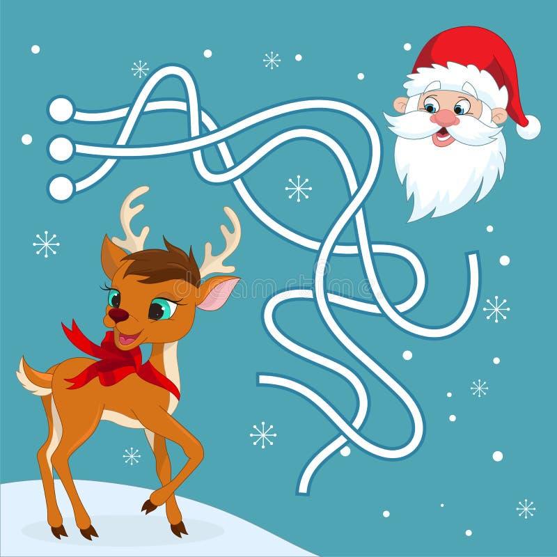 Jullabyrintlek vektor illustrationer