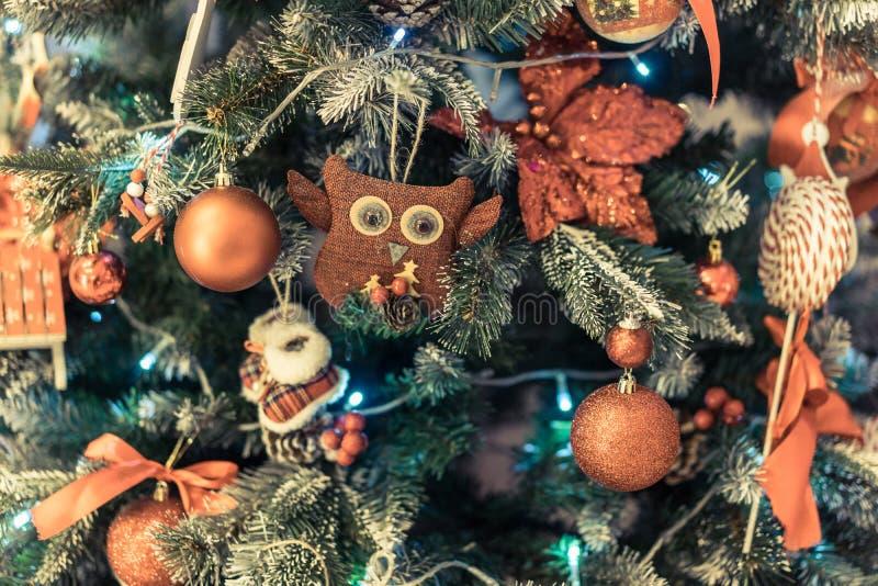 Jullampor och bokeh arkivbild