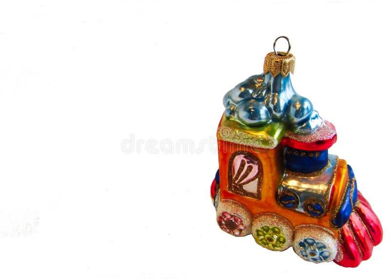 Julleksakmotor på en vit bakgrund royaltyfri bild