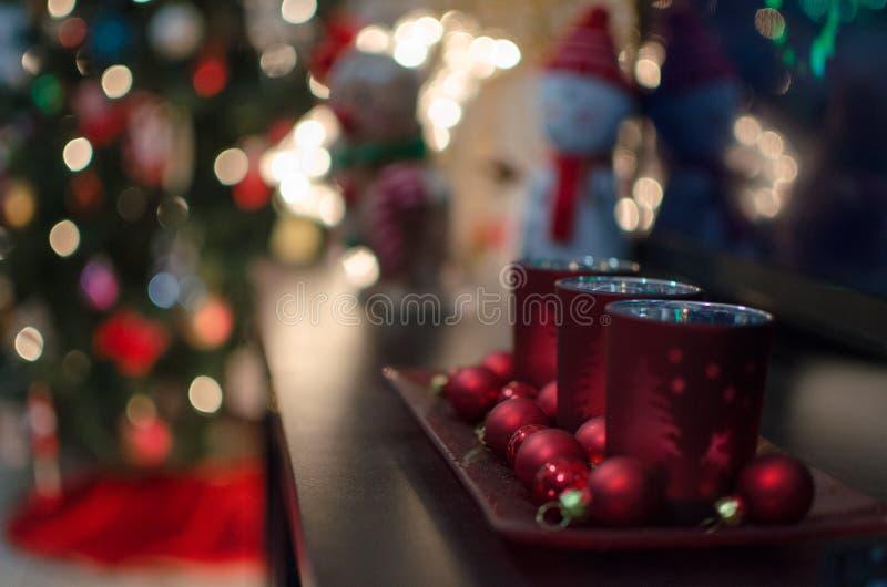 Julljushållare royaltyfria foton