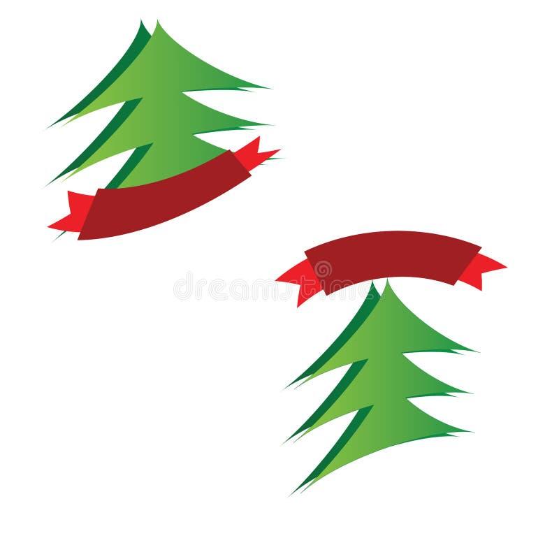 Jullogoer vektor illustrationer
