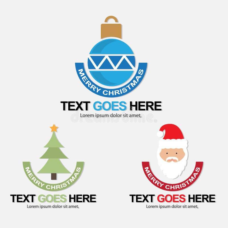 Jullogoer/symboler, baner vektor illustrationer