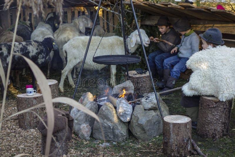 Julmarknad Benediktbeuern arkivfoton