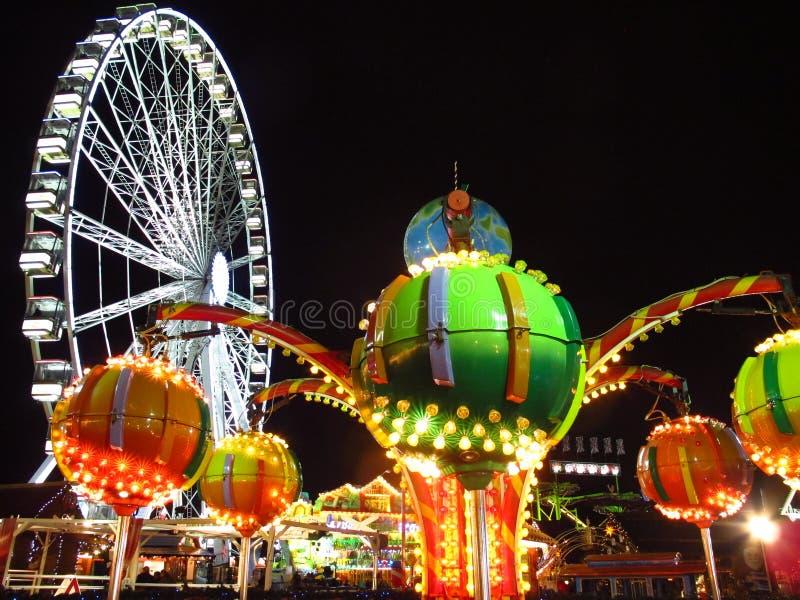 Julmarknad Hyde Park London England royaltyfria bilder