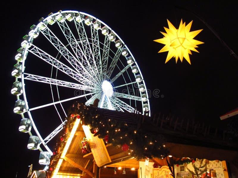 Julmarknad Hyde Park London England royaltyfria foton