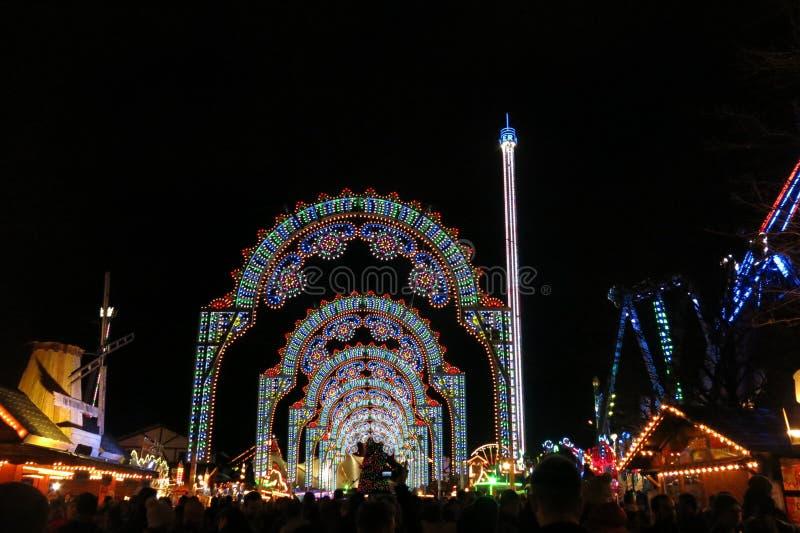 Julmarknad Hyde Park London England arkivfoton