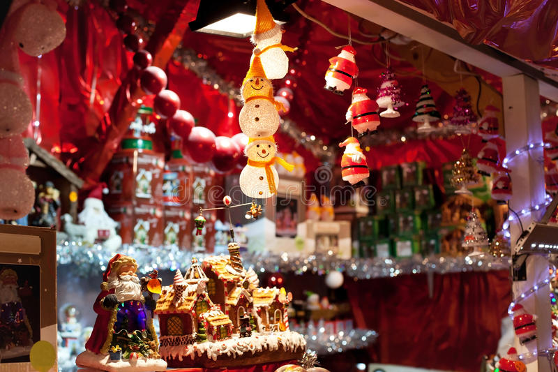 Julmarknad i Europa royaltyfri bild