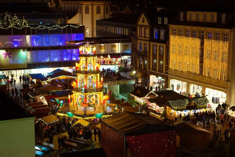 Julmarknad i Nuremberg, Tyskland royaltyfri bild