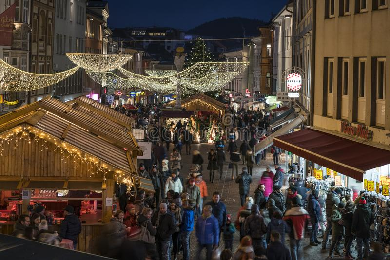 Julmarknad i Villach royaltyfri foto