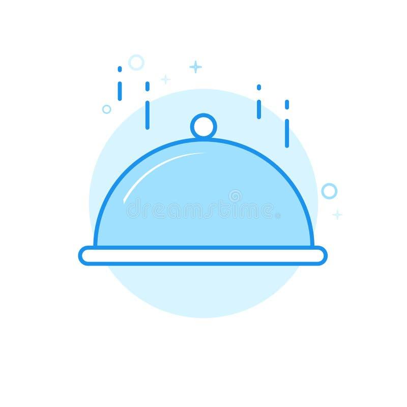 Julmatställe, plan vektorsymbol för festlig tabell, symbol, Pictogram, tecken Ljust - blå monokrom design Redigerbar slaglängd vektor illustrationer