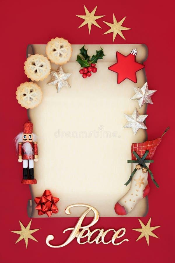 Julmellanrumsbokstav och symboler arkivbilder