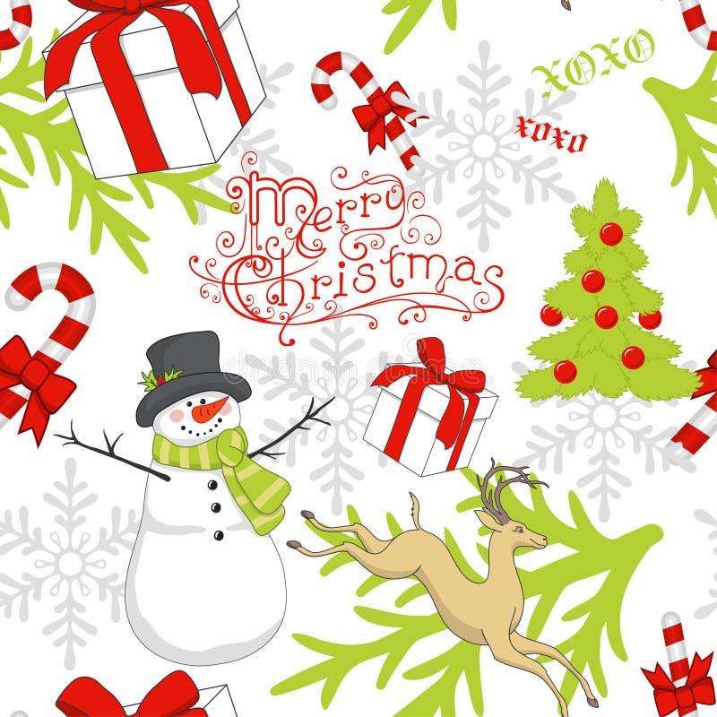 Julmodell vektor illustrationer