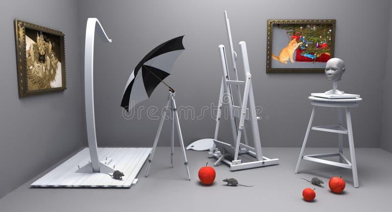 julmouses tre vektor illustrationer