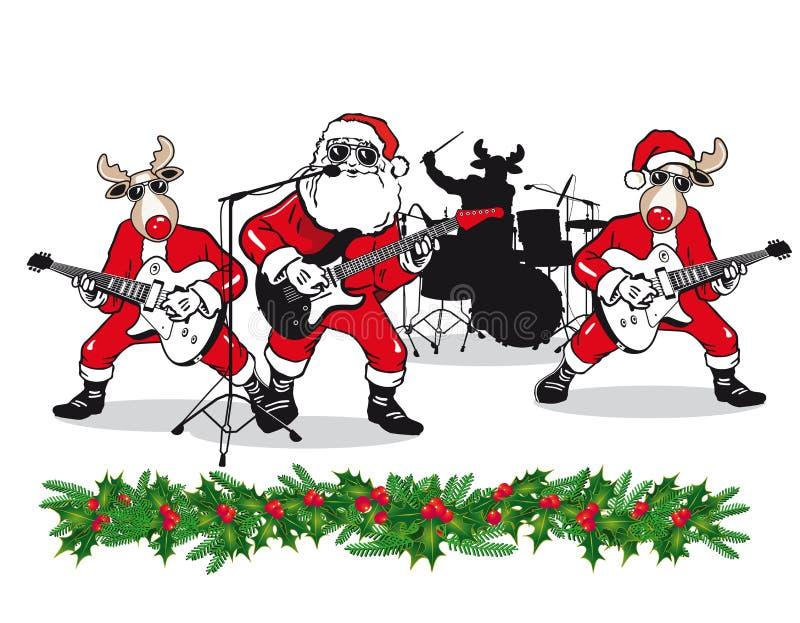 Julmusikband royaltyfri illustrationer