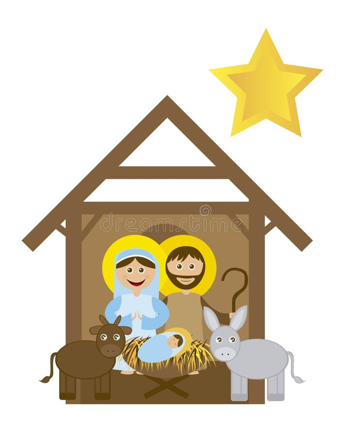 Julnativity royaltyfri illustrationer