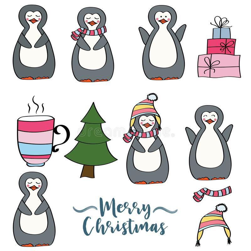 Julobjektsamling vektor illustrationer