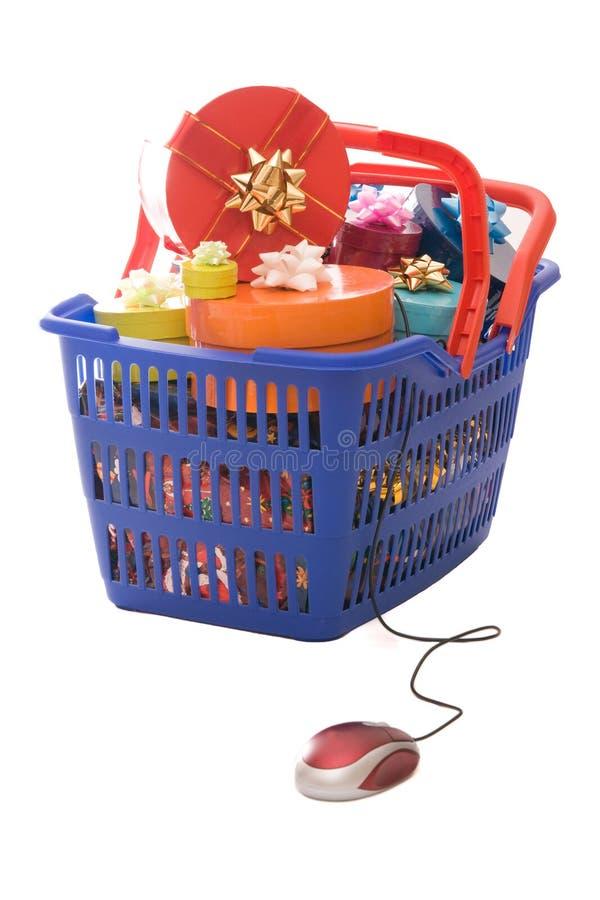 julonline-shopping royaltyfria bilder