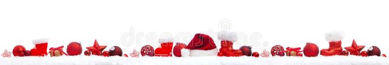 Julpanorama på vit arkivbild