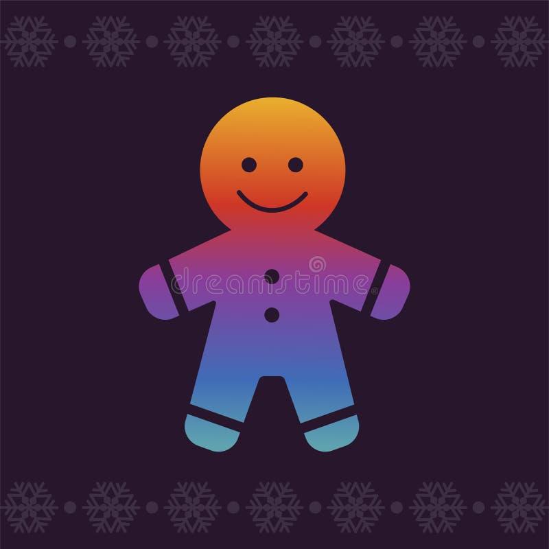 Julpepparkaka colors modernt Linje konstvektorsymbol i ljusa krimskramslutningar för apps och websites greeting lyckligt nytt år  vektor illustrationer