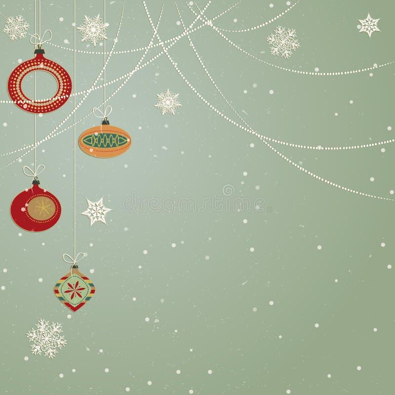Julprydnadar vektor illustrationer