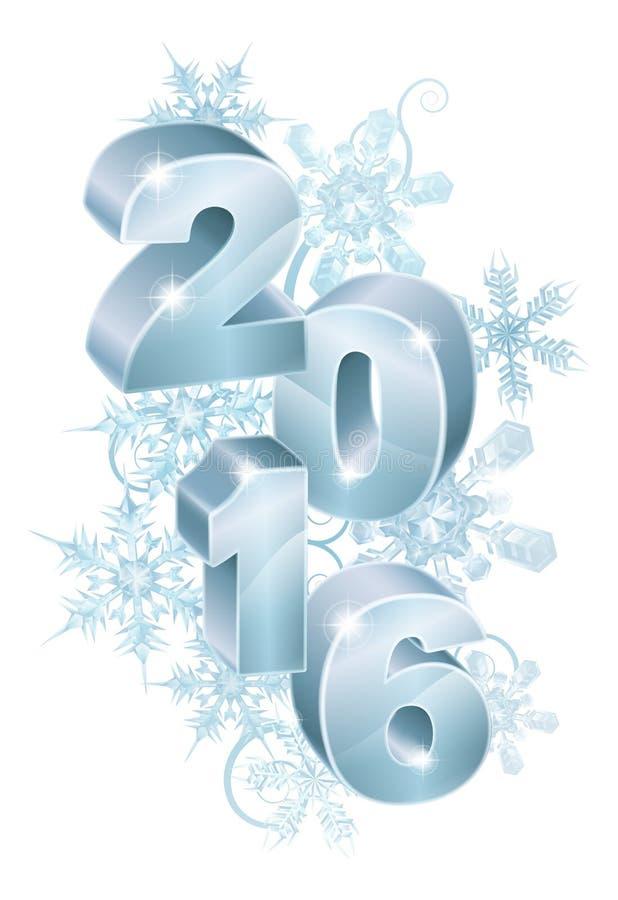 2016 julpynt för nytt år royaltyfri illustrationer