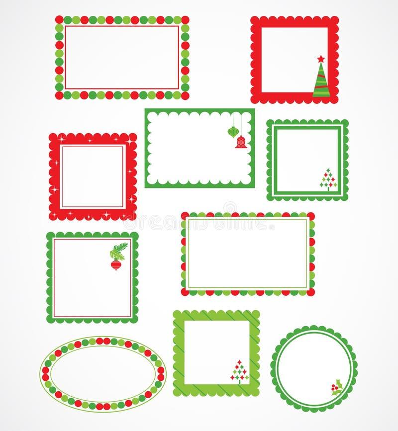 Julramar och labales stock illustrationer
