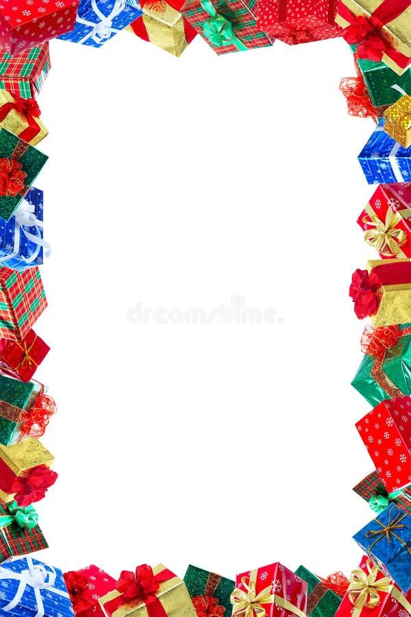 julrampresents royaltyfria bilder