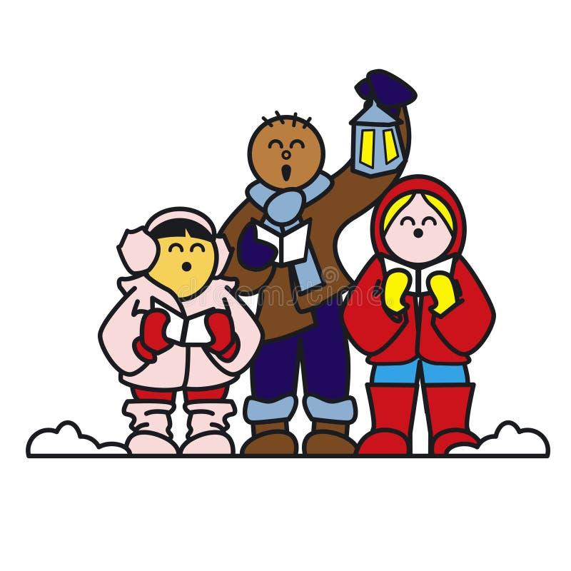 julsångare royaltyfri illustrationer