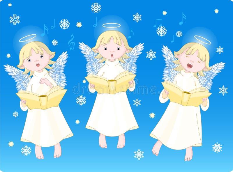 Julsånger vektor illustrationer