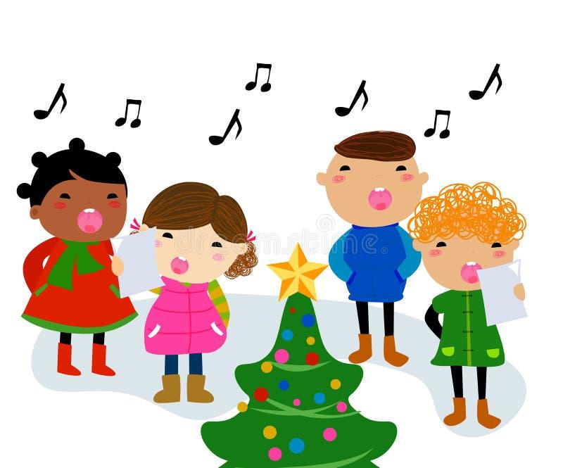 Julsånger royaltyfri illustrationer