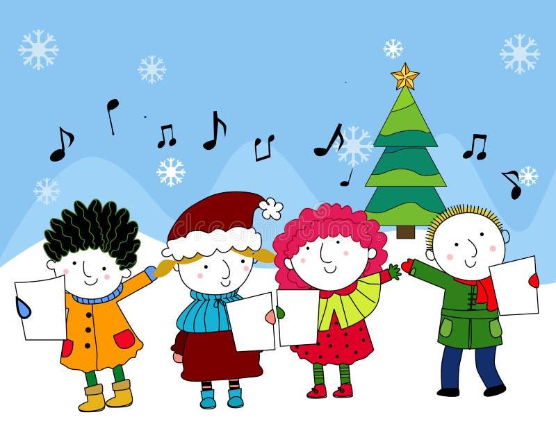 Julsånger stock illustrationer