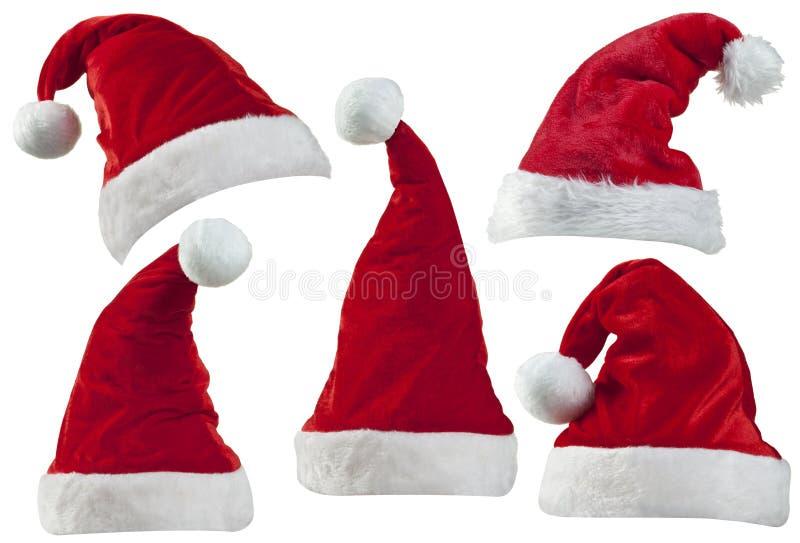 JulSanta hattar fotografering för bildbyråer