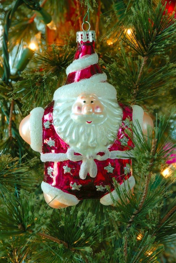 julsanta tree royaltyfria bilder