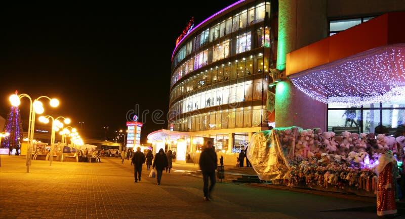 Julsikt av köpcentret i Nizhny Novgorod royaltyfria bilder