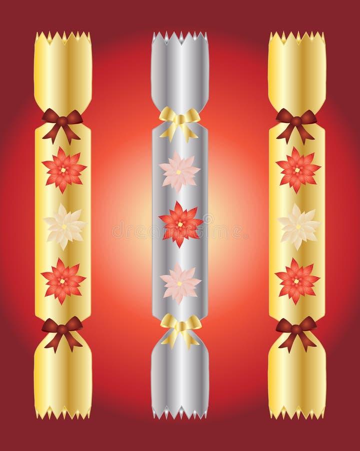 julsmällare royaltyfri illustrationer