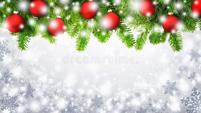 Julsnöflingabakgrund royaltyfri bild