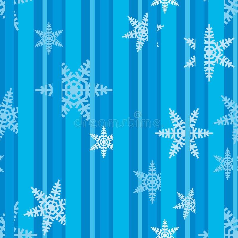 Julsnöflingor festlig Pattern_02 royaltyfria bilder