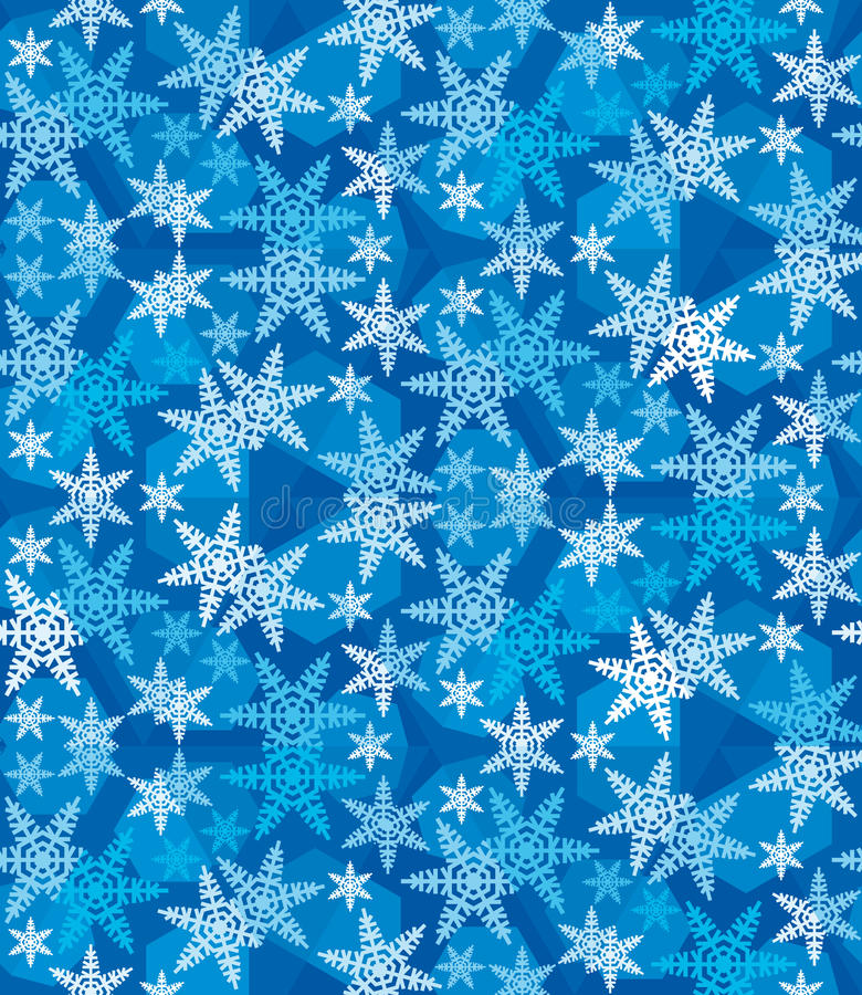 Julsnöflingor festlig Pattern_10 royaltyfri fotografi