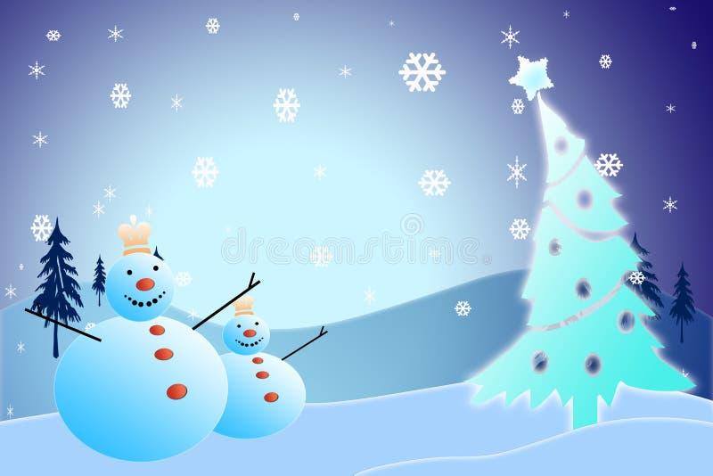 Julsnögubbe royaltyfri fotografi