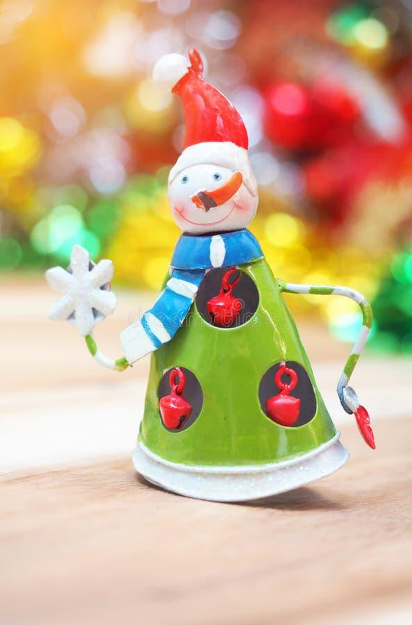 Julsnökvinnaleksak för dekorhem arkivbild