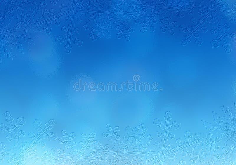 Julsnöplatsblått royaltyfri foto