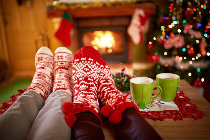 Julsockabegrepp royaltyfria bilder