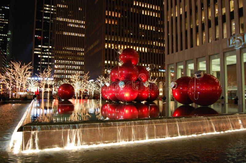 julstad New York arkivfoton