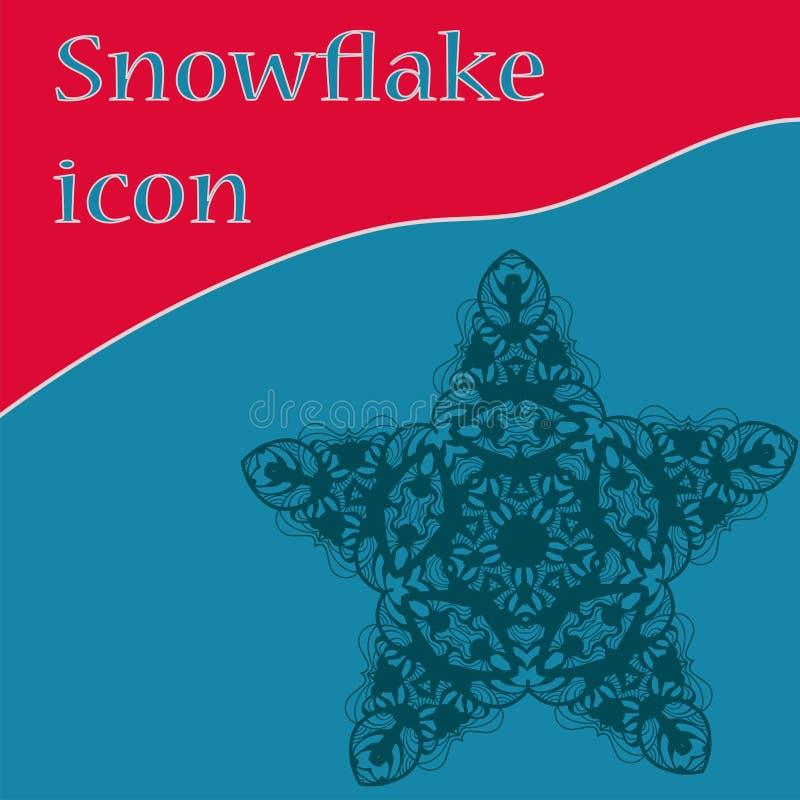Julstjärna, utsmyckad stylization av dengjorda fem-hörn stjärnan royaltyfri illustrationer