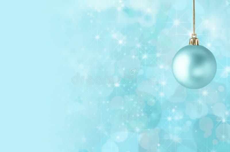 Julstruntsak på stjärnklar Bokeh bakgrund stock illustrationer