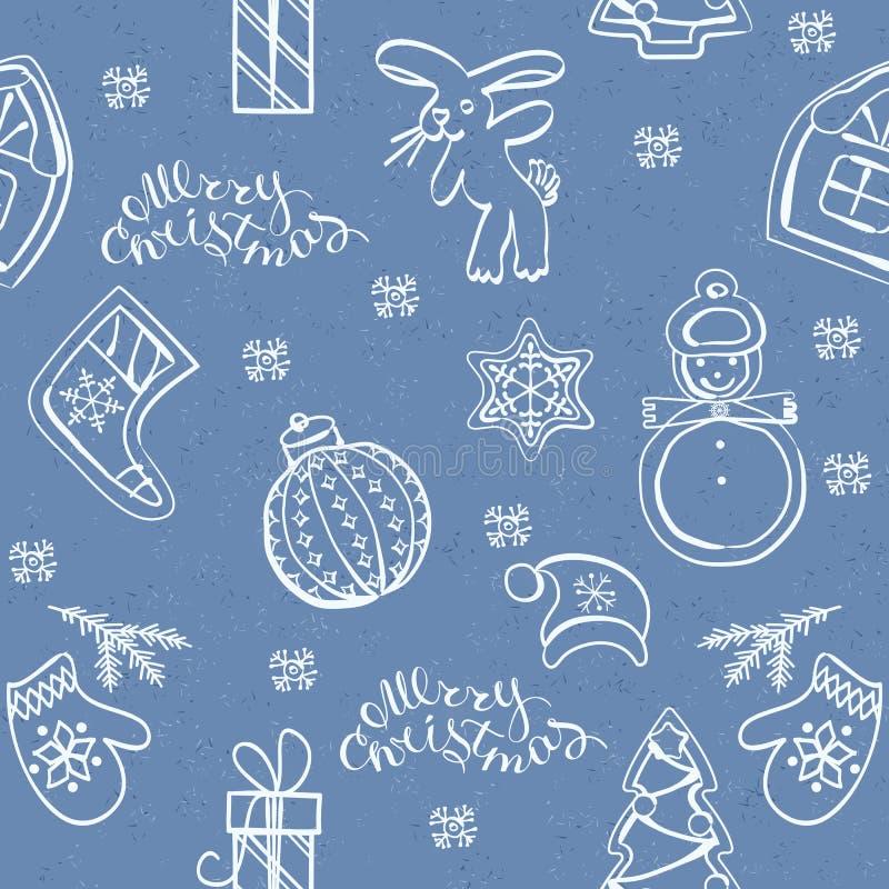 Julstruntsakprydnader stock illustrationer